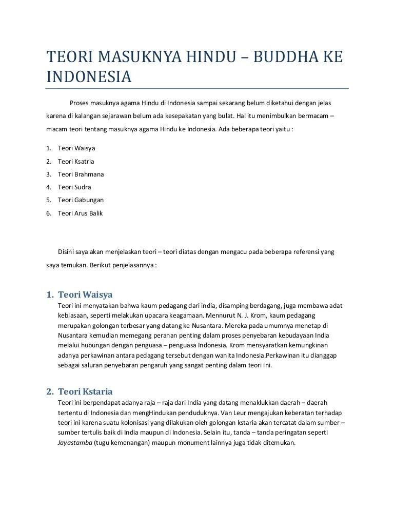 5 Teori Masuknya Hindu Budha Ke Indonesia : teori, masuknya, hindu, budha, indonesia, Teori, Masuknya, Hindu