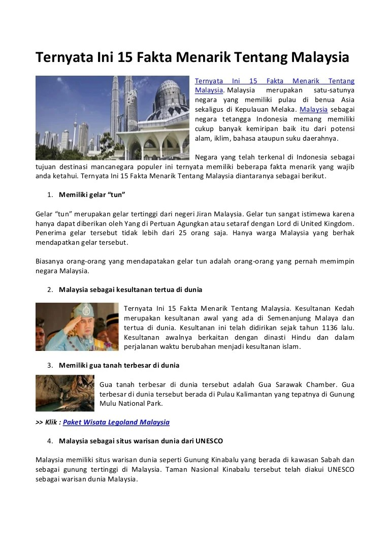 Puncak Tertinggi Di Malaysia Adalah : puncak, tertinggi, malaysia, adalah, Ternyata, Fakta, Menarik, Tentang, Malaysia