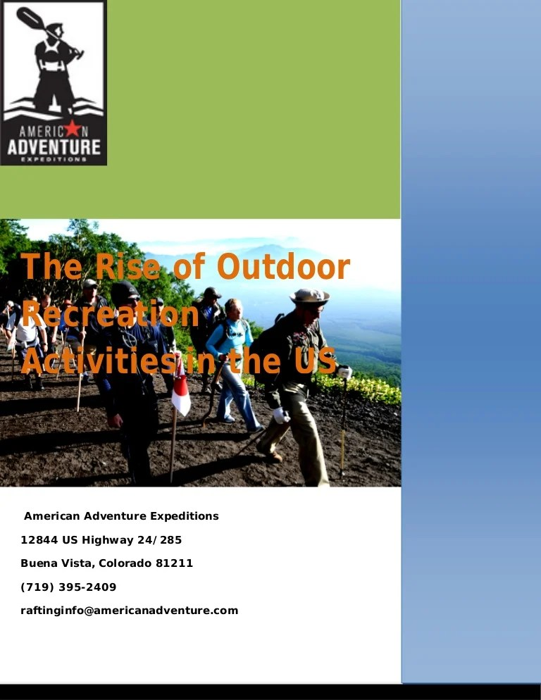 The Rise of Outdoor Recreation Activities in the US