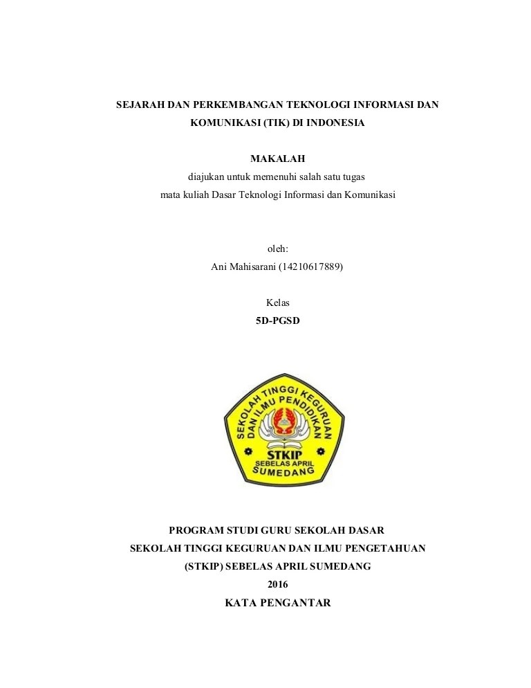 Sejarah Perkembangan Tik : sejarah, perkembangan, Sejarah, Perkembangan, Dunia, Indonesia