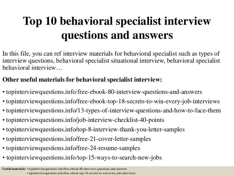 top behavioral interview questions