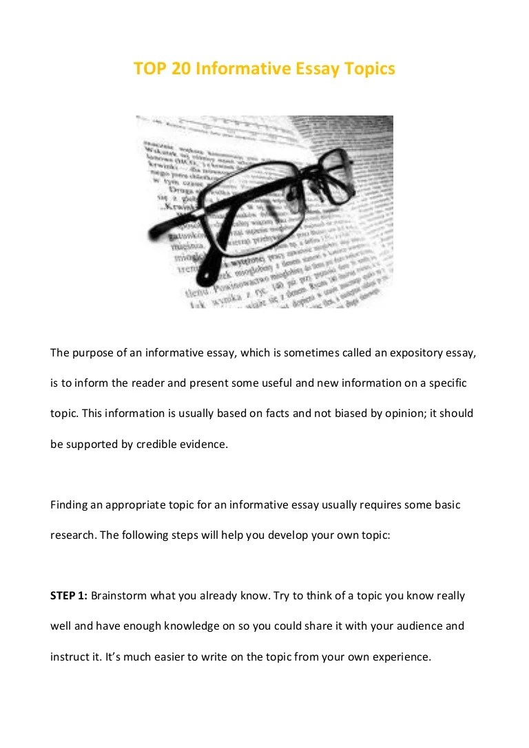 Information Essay Examples