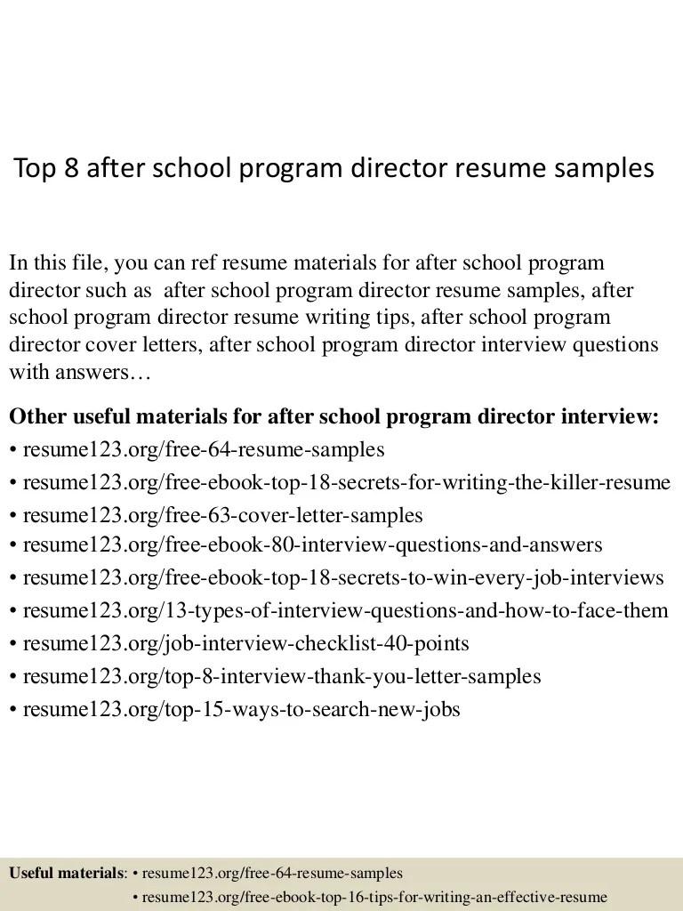 After School Program Director Cover Letter | Sample Cover Letter ...