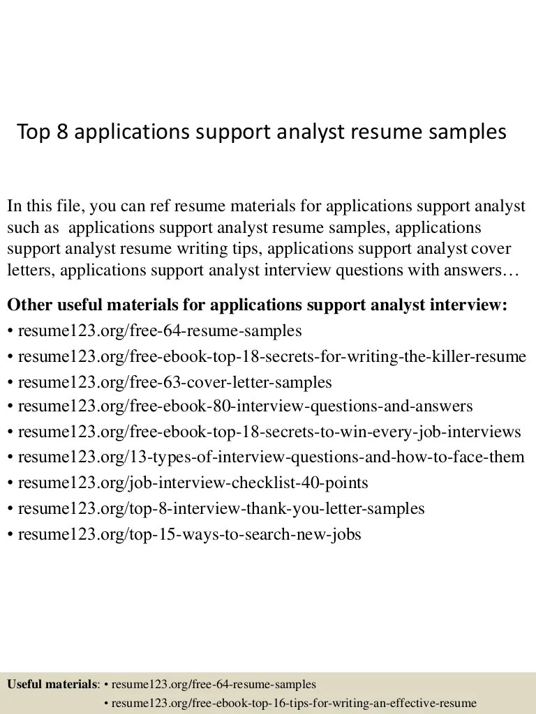 Application Support Analyst Cover Letter Application Support Analyst Resume Karis Sticken Co