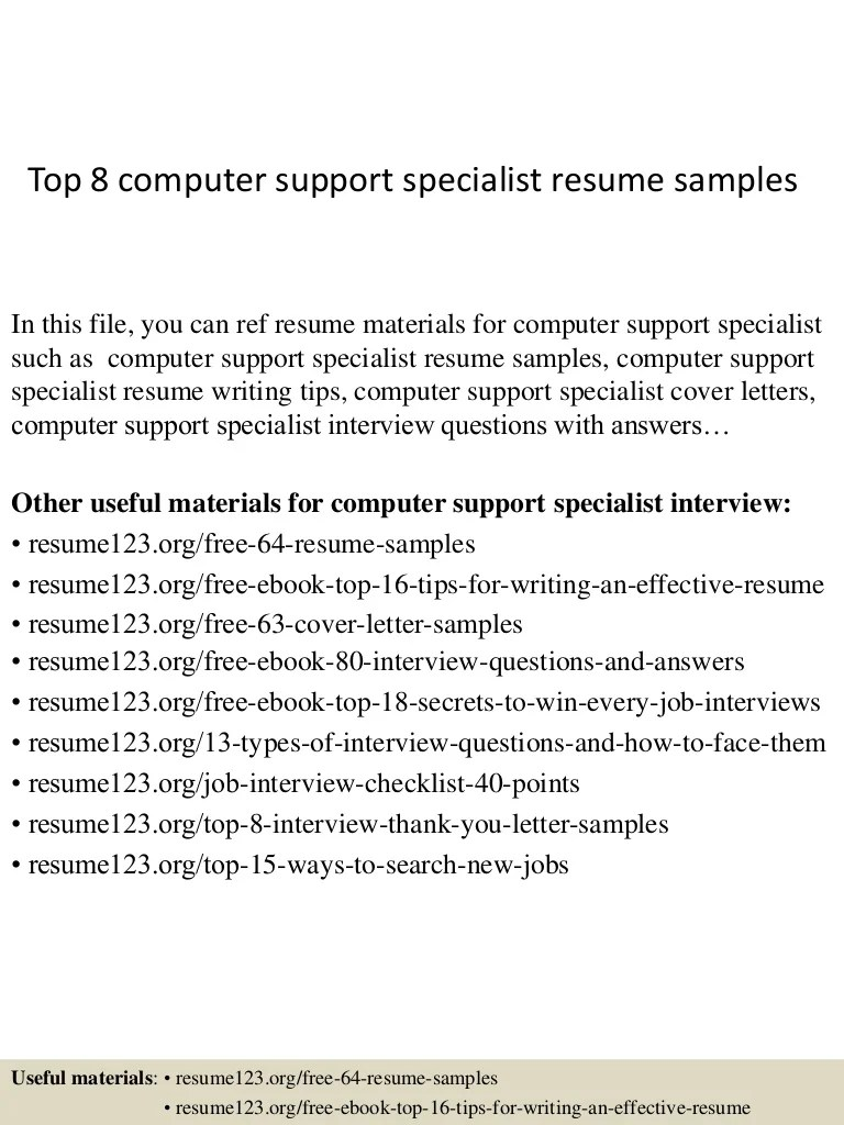 Resume Support. Technical Support Representative Resume Samples
