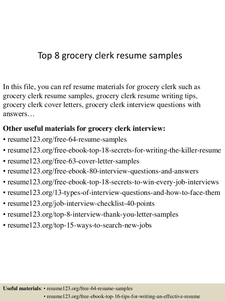 Grocery Stock Clerk Cover Letter Grocery Clerk Cover Letter