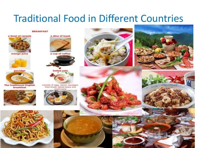 Traditional food in different countries