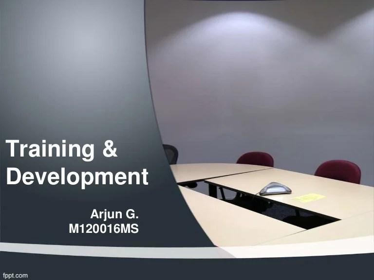 Training And Development Slides 2