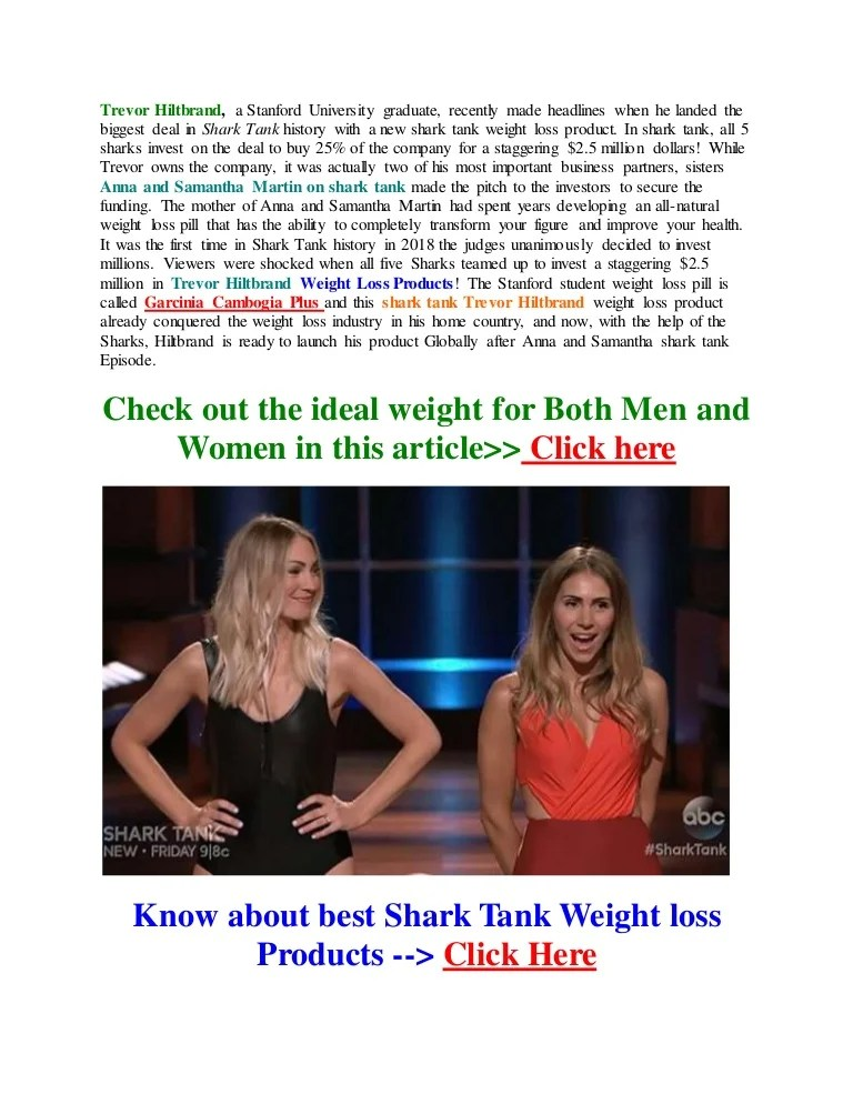 Shark Tank Episode With Anna And Samantha Martin : shark, episode, samantha, martin, Trevor, Hiltbrand, Shark, Weight
