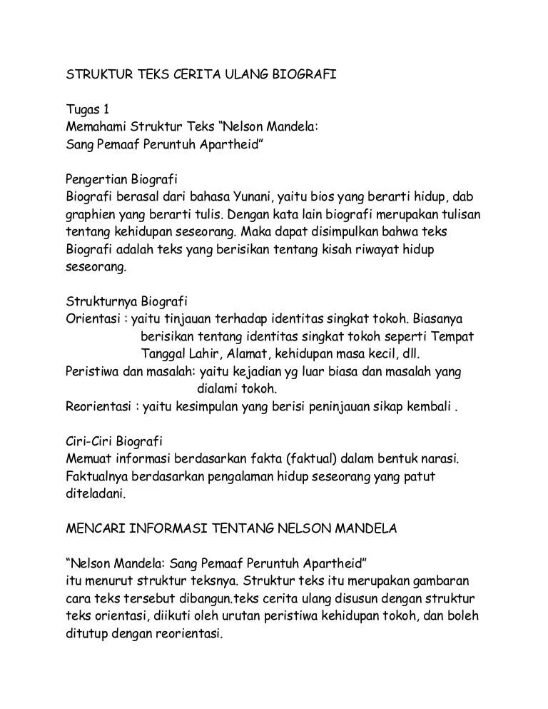 Salah Satu Ciri Dari Biografi Adalah : salah, biografi, adalah, Bahasa, Indonesia
