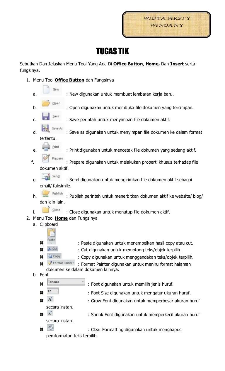 Menu Yang Terdapat Pada Microsoft Excel Dan Fungsinya : terdapat, microsoft, excel, fungsinya, Tugas, Individu, Office, Button,, Home,, Insert