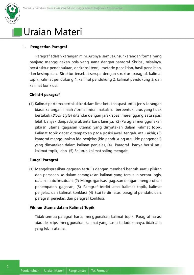 Kalimat Topik : kalimat, topik, Paragraf, Pengembangannya