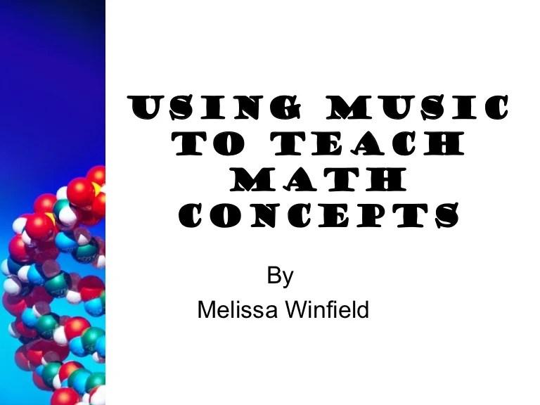 Using music to teach math concepts