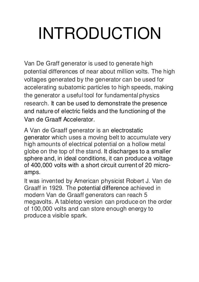 medium resolution of van der graaf generator diagram