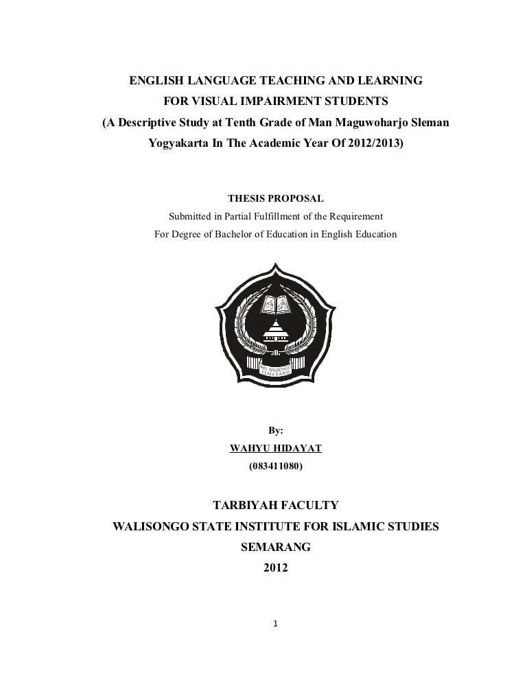 Contoh Proposal Penelitian Kualitatif Pendidikan : contoh, proposal, penelitian, kualitatif, pendidikan, Proposal, Skripsi, Kualitatif, Deskriptif