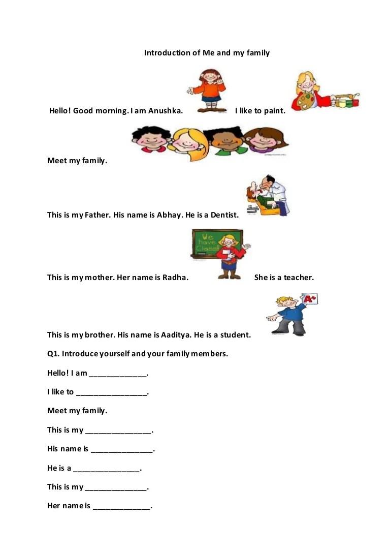 medium resolution of Writing skill-for-grade-1-introducing-myself-and (writing acivities)