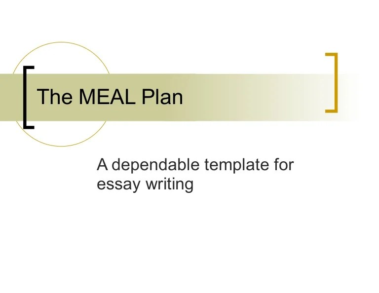 MEAL Plan For Writing Essay Paragraphs