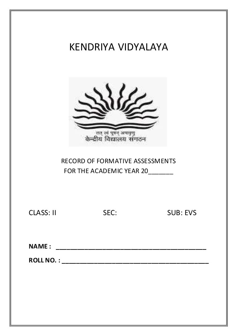 hight resolution of CLASS II EVS WORKSHEETS