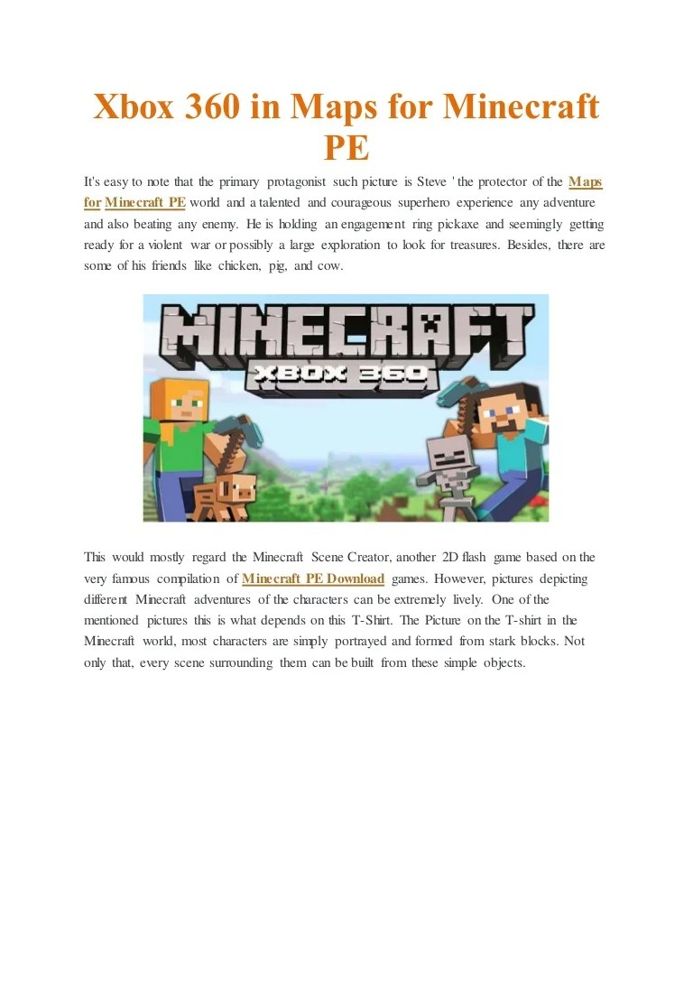 Minecraft Adventure Maps Xbox360 : minecraft, adventure, xbox360, Minecraft