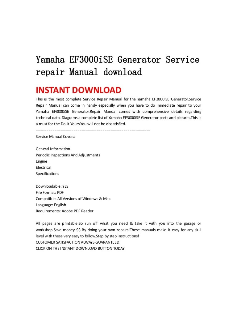 yamaha ef3000iseb wiring schematic [ 768 x 1087 Pixel ]