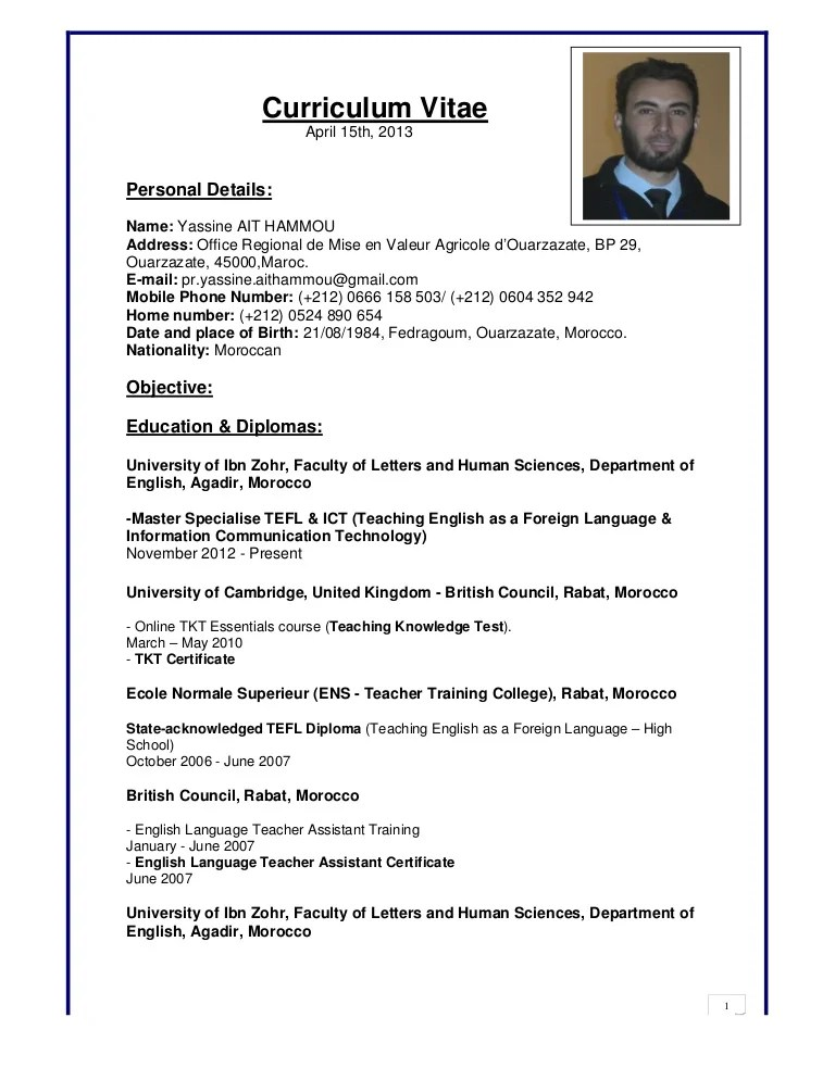 Yassine Ait Hammou's Cv New