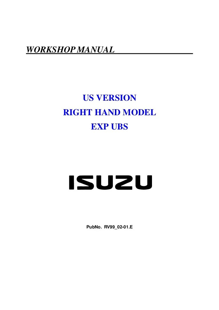 small resolution of 1999 isuzu trooper owner manual