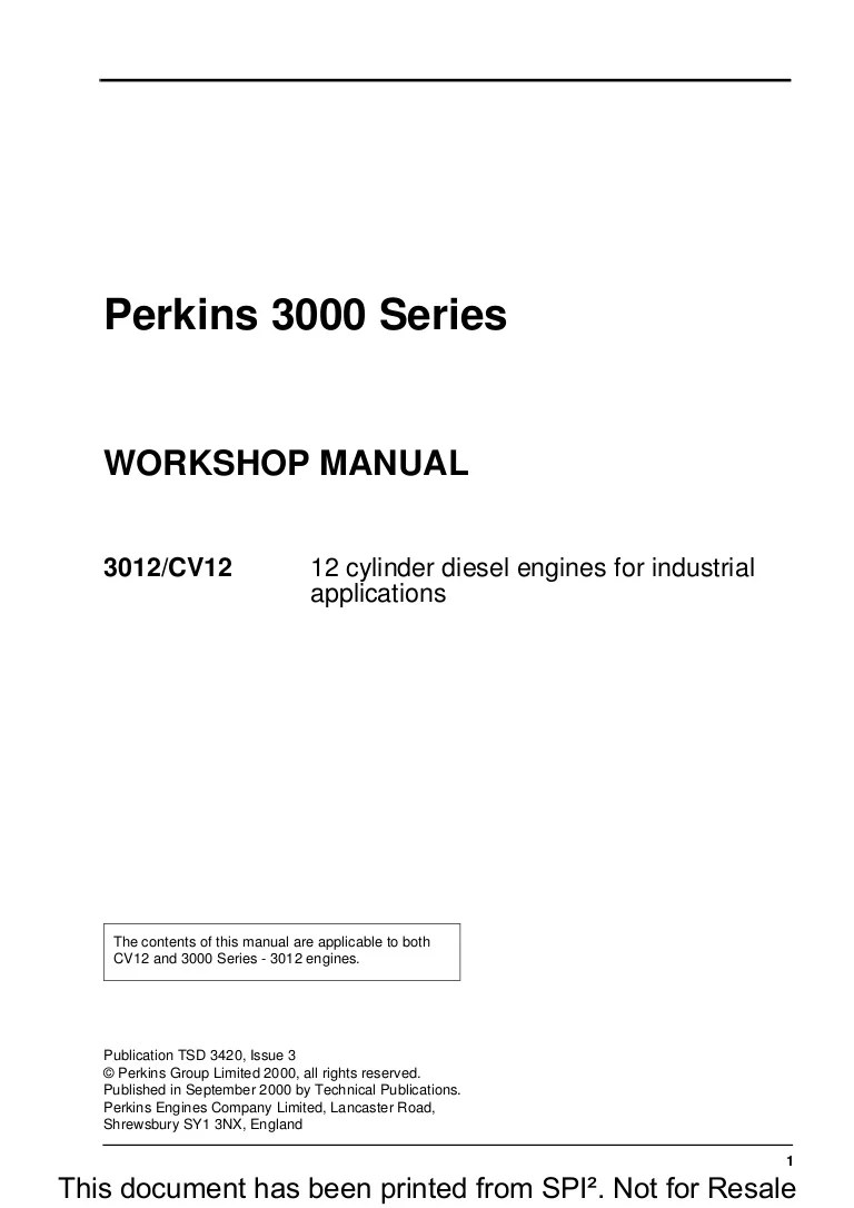 small resolution of perkins 3000 series 3012 cv12 12 cylinder diesel engine service repair manual