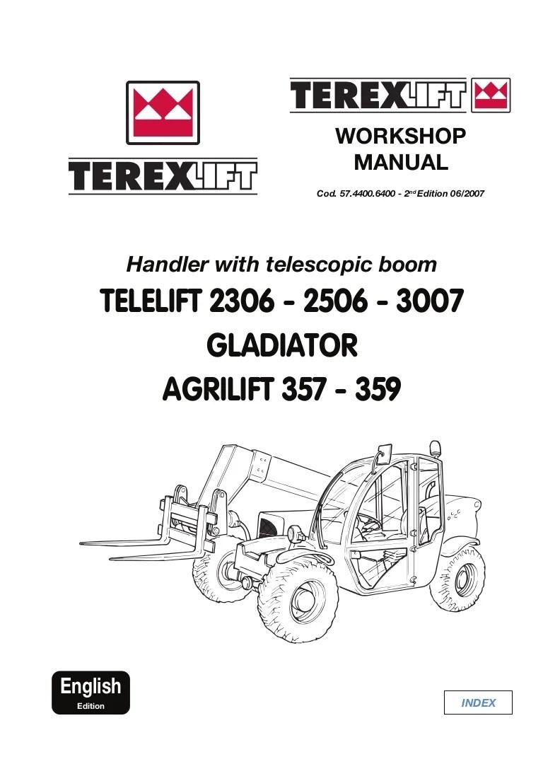 hight resolution of terex telelift gladiator agrilift 359 telescopic handler service repair manual