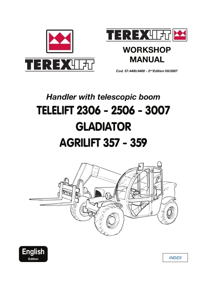 small resolution of terex telelift gladiator agrilift 359 telescopic handler service repair manual