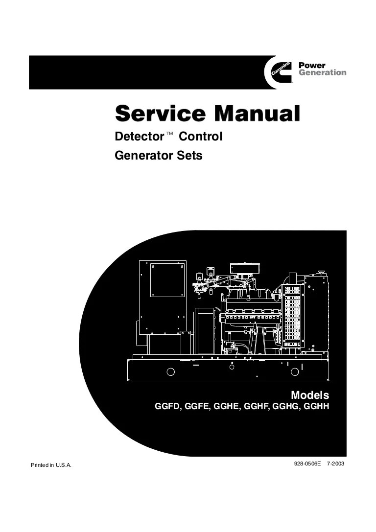 medium resolution of cummins onan gghg detector control generator sets service repair manual