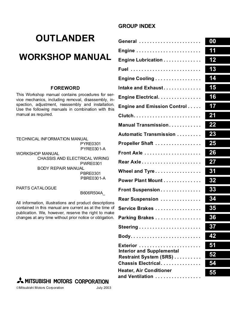 2002 mitsubishi airtrek service repair manual mitsubishi airtrek turbo engine diagram [ 768 x 1087 Pixel ]