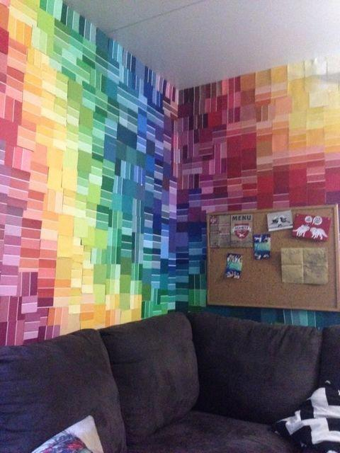 'Painting' your walls with paint swatches