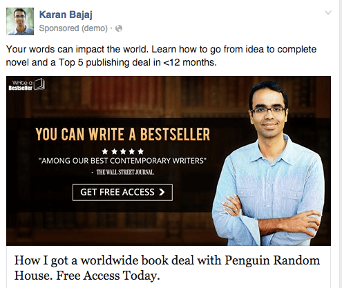Karan Bajaj Facebook ad old