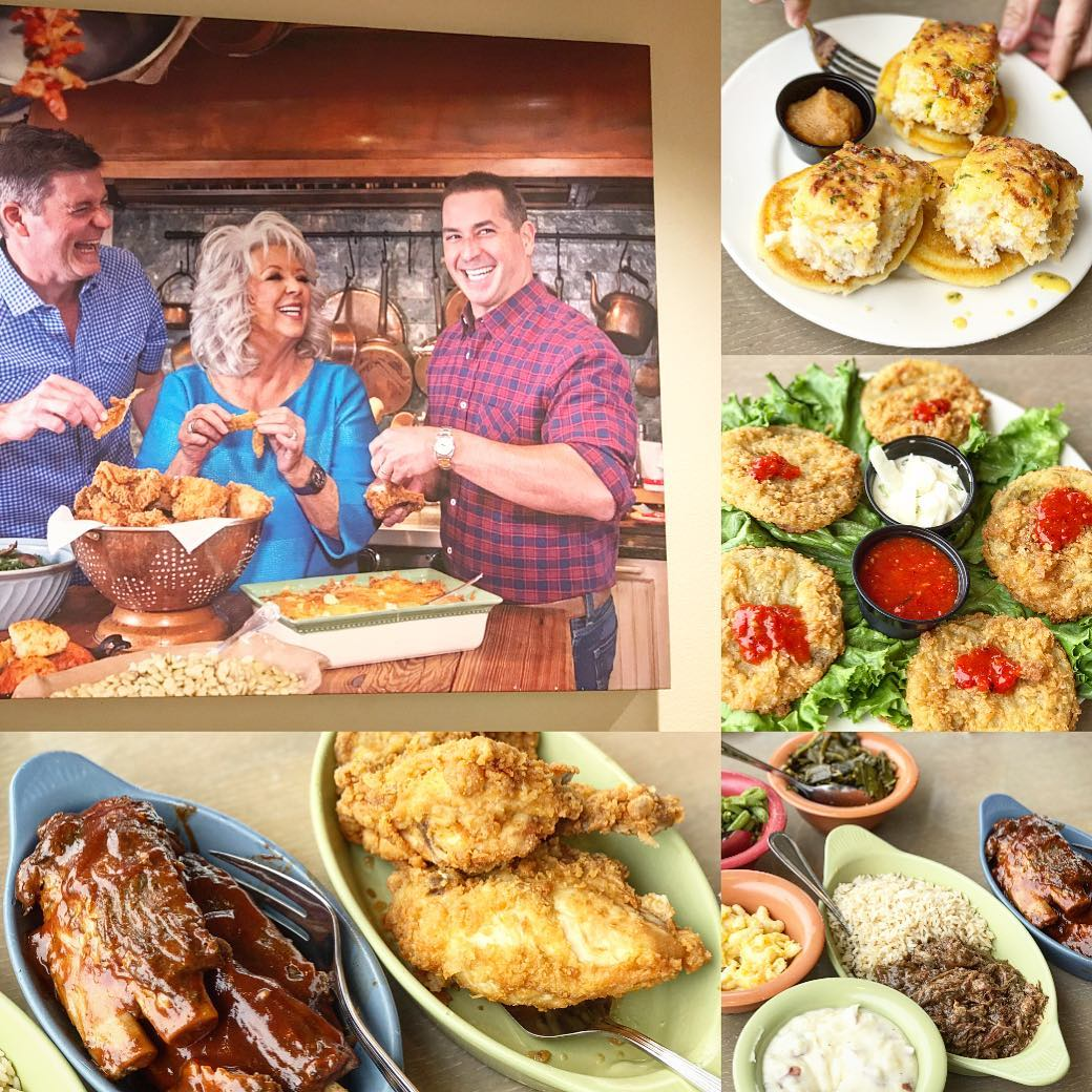 paula deen kitchen triple sink s family honest review with photos pigeon forge restaurants in tn original photo