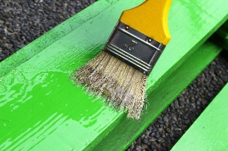 Paint Wood for Protection from Bees