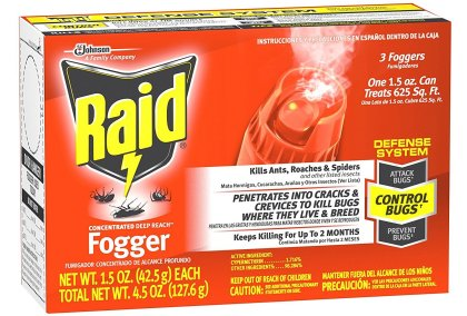 raid flea killer fogger image