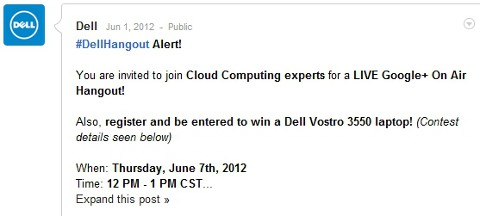 dell hangout on air
