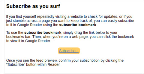subscribe bookmark