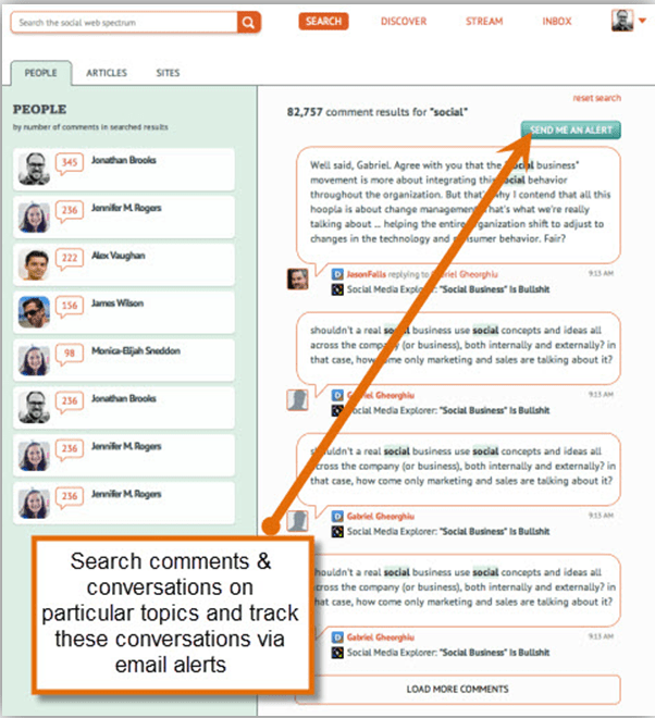engagio search conversations