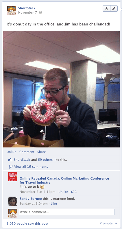 jim eating donut
