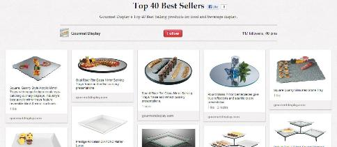 Top 40 best sellers gourmet display