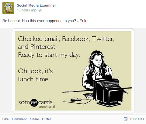 social media examiner facebook post