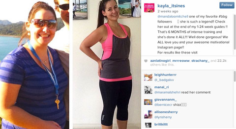 kayla itsines follower testamonial spotlight