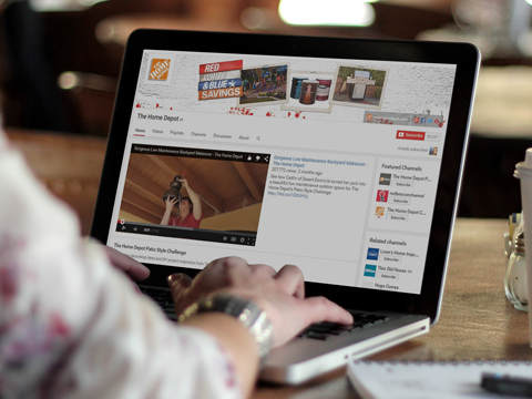 home depot youtube placeit image