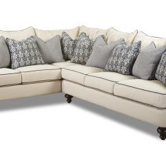 Bentley Casual Sectional Sofa With Slipcover By Klaussner Narrow Sofas Depth Uk Clanton Transitional