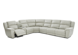 klaussner grand power reclining sofa dog blankets for sofas and sectionals albus leather sectional w headrest lumbar option by
