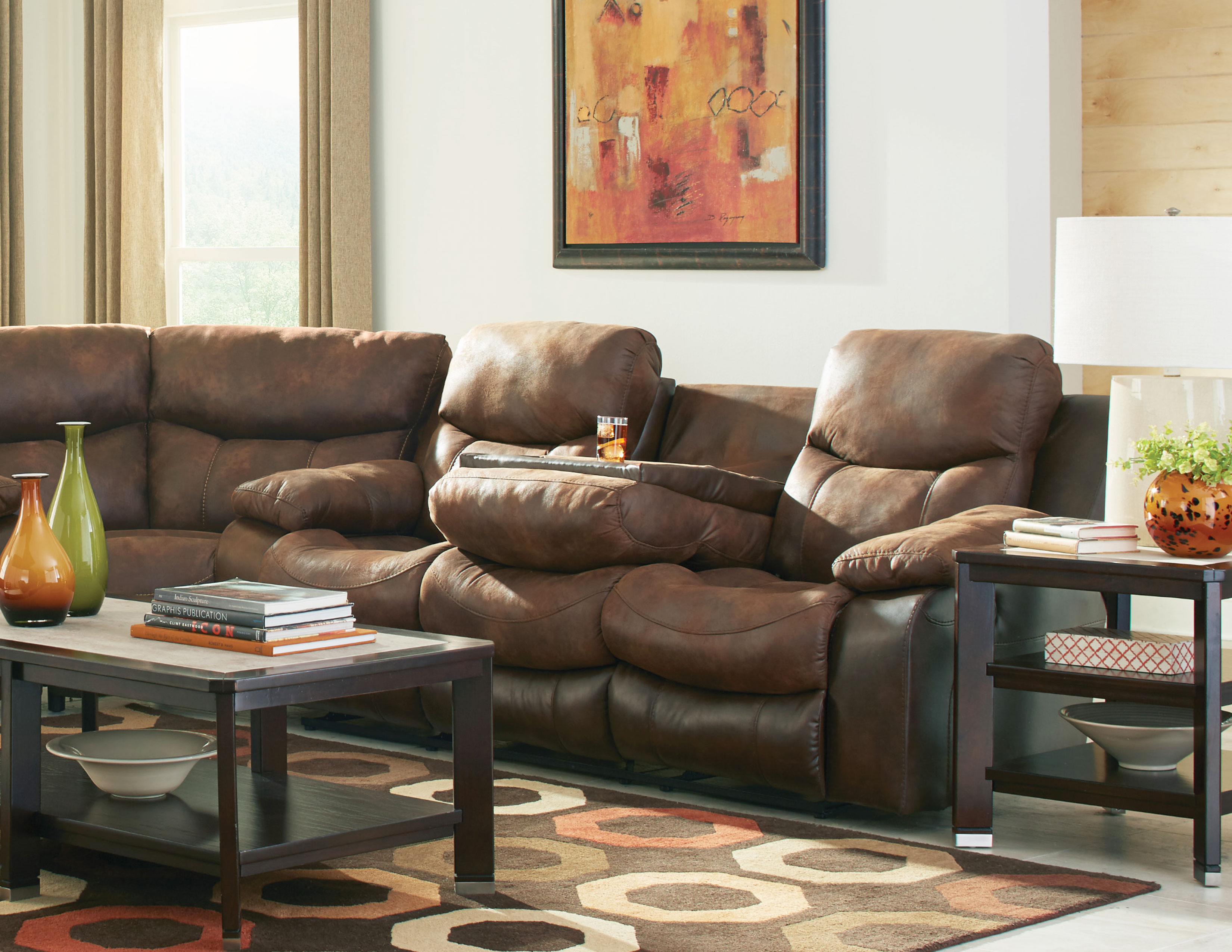 henderson two tone reclining sectional