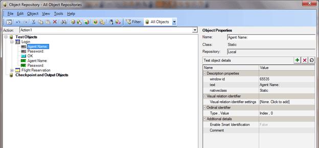 QTP Object properties