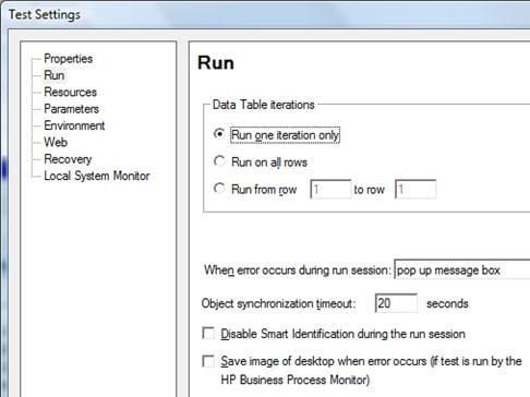 QTP Parameterization datatable