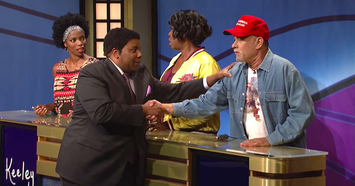 Tom Hanks Is A Trump Voter In The SNL 'Black Jeopardy